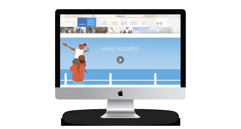 healthscapes on imac mockup